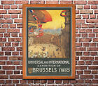 1910 Brussels International Exhbition - Vintage Early Aviation Poster