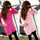 Fashion Ladies Women's Long Sleeve Button Tops Blouse Shirt T shirt Tee Cardigan