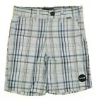 Hurley Boys White Black & Blue Plaid Short Size 5 6 $34