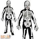 3D Skeleton Jumpsuit + Mask Boys Fancy Dress Up Halloween Kids Child Costume 3-8