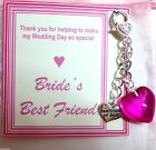 """Best Friend of Bride"" Thank You Gift from Bride to Best Friend Handbag Charm"