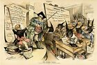 WILLIAM McKINLEY TARIFF SCHOOL TEACHER APOSTLE TO STUDENTS ARE DONKEY ASSES DESK