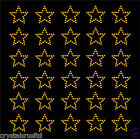 30 Rhinestone Stars iron-on diamante transfer crystal stone bling motif