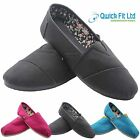 WOMENS SLIP ON CASUAL CANVAS ESPADRILLES LADIES TRAINERS PUMPS BEACH SHOES BOOTS