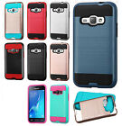 For Samsung Galaxy Express 3 Brushed Metal HYBRID Rubber Case +Screen Protector
