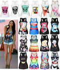 Summer Women's Tank Tops Vest Printed Blouse Clubwear Party Sleeveless T-Shirt