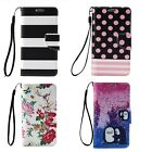 Wristlet Leather Flip Wallet Card Holder Stand Case Cover For iPhone 5/6/6s Plus