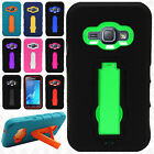 Samsung Galaxy Express 3 IMPACT Hard Protector Rubber Case Phone Kickstand Cover