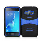 For Samsung Galaxy Amp 2 Hard Gel Rubber KICKSTAND Case Phone Cover Accessory