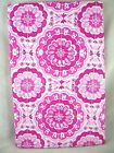 Assorted Sizes Pink & White Medallion Vinyl Tablecloth NEW FREE SHIPPING