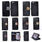 For Samsung Coin Moneda Wallet Flip PU Leather+Soft Interior Case Cover - Black