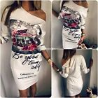 Sexy Women Floral Tunic Bodycon Evening Cocktail Party Short Pencil Mini Dress