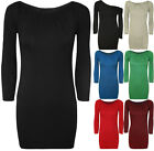 New Womens Plain Off Shoulder Short Bodycon Ladies Ruched Top Mini Dress 8 - 14