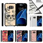 For Samsung Galaxy S7| Slim Fit Hard 2 Piece Case Butterfly Skull