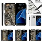 For Samsung Galaxy S7| Slim Fit Hard 2 Piece Case Tree Bark Hunter Camouflage