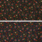 Scattered Ditsy Floral Flowers & Buds 100% Viscose Print Fabric 140cm Wide