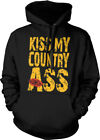 Kiss My Country Ass Lips Southern Redneck Pride Funny Hoodie Pullover