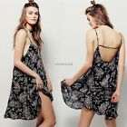 Women's Summer Sexy Boho Backless Casual Party Beach Dress Floral Sundress N4U8