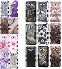 For Samsung Galaxy J7 MPACT TUFF HYBRID Protector Case Skin Cover + Screen Guard