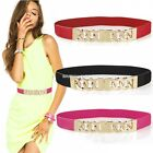New Women Slim Fashion Waist Belt Dress Accessory Wide Skinny Faxu Leather Belt