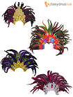 Adults Feathered Headdress Ladies Cabaret Show Girl Fancy Dress Accessory Women