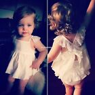 Flower Floral Sleeveless Baby Girls Toddler Kids Dress Casual Party Wedding EN24