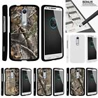 For  Droid Turbo 2| X-Force| Slim Fit Hard 2 Piece Case Tree Bark Hunter Camo