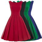 Vintage Style 50's 60's Dress Pin Up Swing Evening Party Housewife Retro Dresses