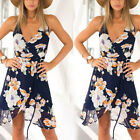 1 Pc Sexy Summer Floral Boho Sleeveless Dress Women V-neck Sling Dress