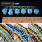 5pcs Twist Coin/Teardrop/Hexagon 14mm Faceted Glass Porcelain Color Loose Beads