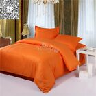 Orange Quilt/Doona Cover Set Double/Queen/Super King Bed Size New Fitted Sheets