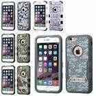 """For Apple iPhone 6 6S Plus 5.5"""" Hard Silicone Hybrid Case Cover"""