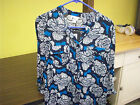NWT STYLUS 3/4 Sleve Floral Tailord Rayon Half Button Top Chest 42 Women L #3497