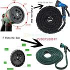 New Latex 25 50 75 100 FT Expanding Flexible Garden Water Hose with Spray Nozzle
