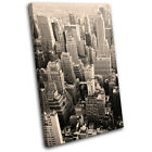 New York City NYC USA Skyline Vintage Skyscraper Canvas Art Picture Print Photo
