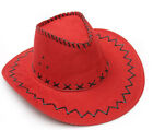 CHIC Mens Cowboy Faux Suede Leather Hat Wide Brim Western Outback Hats