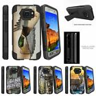 For Samsung Galaxy S7 Active| Dual Bumper Case Kickstand Flying Duck