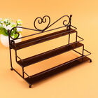 3-Tier Metal Nail Polish Display Wall Rack Stand Organizer Holder Heart Design