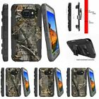 For Samsung Galaxy S7 Active G891A Holster Clip Stand Case Tree Bark Hunter Camo