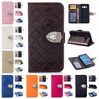 Fr Samsung Galaxy Grand Prime G530H Metallic Button PU Leather Wallet Case Cover