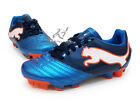 PUMA Powercat 4.12 FG JR US YOUTH soccer cleats blue Synthetic football boots