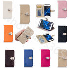Wallet PU Leather Photo Frame Clutch Drop Protection Case Cover For Mobile Phone