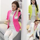 New Women Slim Fit Long Sleeve One Button Blazer Suit Coat Outerwear Lady Jacket