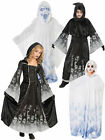 Age 5-10 Kids Ghost Ghoul Halloween Fancy Dress Party Costume Outfit Boys Girls