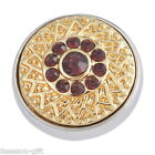 Gift Wholesale Fuchsia Crystal   Snap Buttons Flower For Bracelet Jewelry