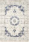 nuLOOM Verona Contemporary Medallion Modern White Blue Area Rug