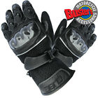 Airmesh Black Short Cuff Summer Motorbike Motorcycle Scooter Gloves