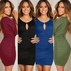 Plus Size Sexy Women Summer Casual Bandage Bodycon Evening Party Club Mini Dress