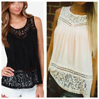 Fashion Women Summer Vest Top Sleeveless Shirt Blouse Casual Tank Hollow Shirt
