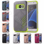For Samsung Galaxy New Double Colors 2 in 1 Plastic+Rubber Protection Cover Case